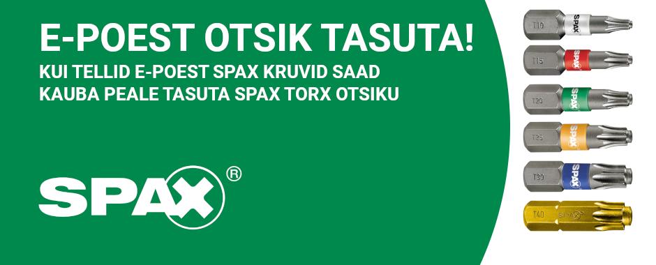 spax torx tasuta