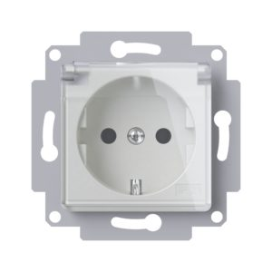 Pistikupesa läbipaistva kaanega IP44 Mikro kreem